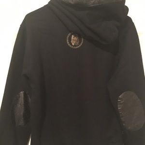 Last Kings Jackets & Coats - Last Kings Black Leather Hoodie